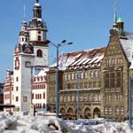 Altes (links) und Neues (rechts) Rathaus, Chemnitz